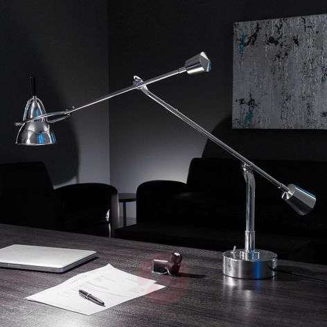 Tecnolumen Buquet LED table lamp, silver-plated-9030009-31