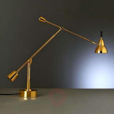Tecnolumen Buquet table lamp, 24 carat gold-plated