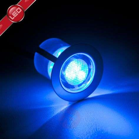 Ten Cosa LED recessed lights, 3 cm, blue