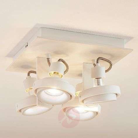 Teska - white ceiling light, 4-bulb