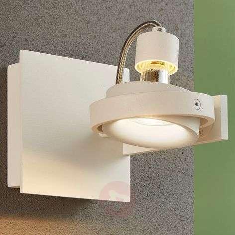 Teska - white spotlight with GU10 socket