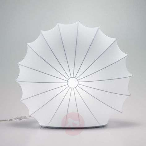 Textile table lamp Muse in white, 60 cm