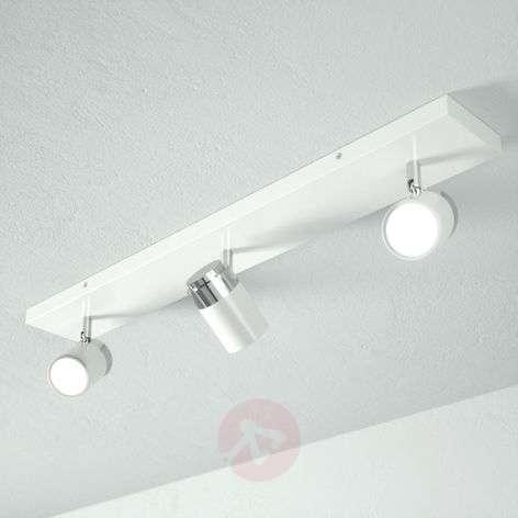 Three-bulb bathroom ceiling light Kardo, white