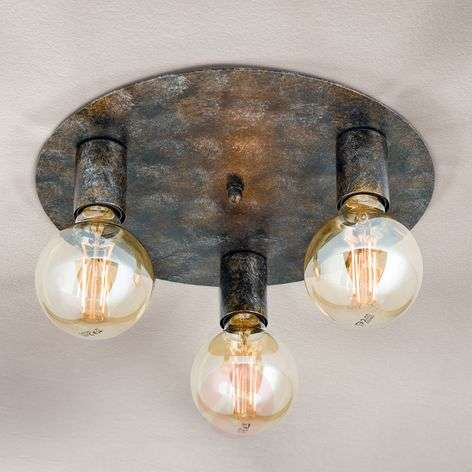 Three-bulb ceiling light Rati in a vintage look