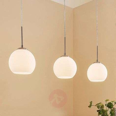 Three-bulb glass pendant lamp Eloy