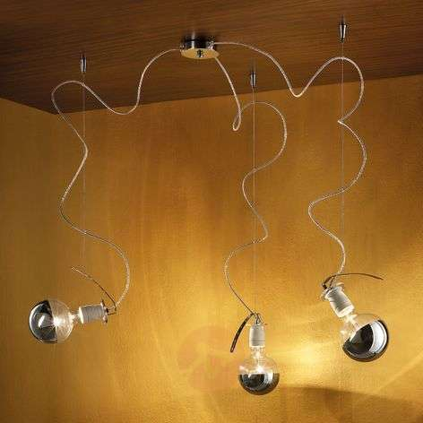 Three-bulb hanging lamp Orchestra 2