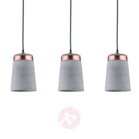 Three-bulb Hanging light Stig, concrete lampshade-7601052-31