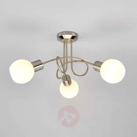 Three-bulb LED ceiling light Elaina, matt nickel-9620029-31