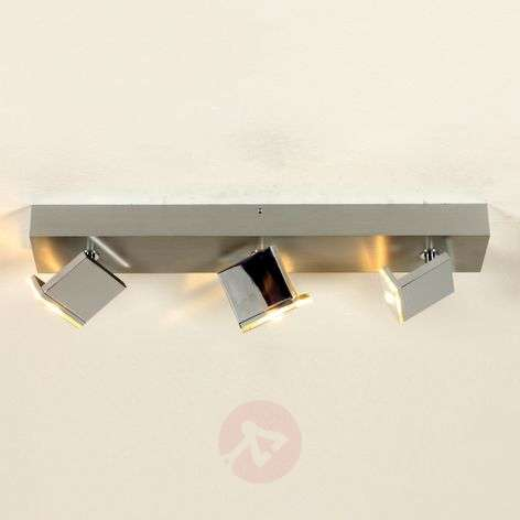 Three-bulb LED ceiling light Elle, dimmable