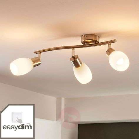 Three-bulb LED ceiling spotlight Morik, dimmable