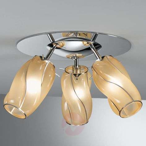 Three-bulb Orione ceiling lamp