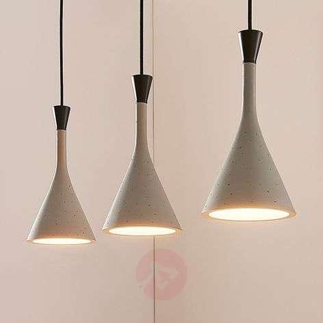 Three-bulb pendant light Flynn for dining tables