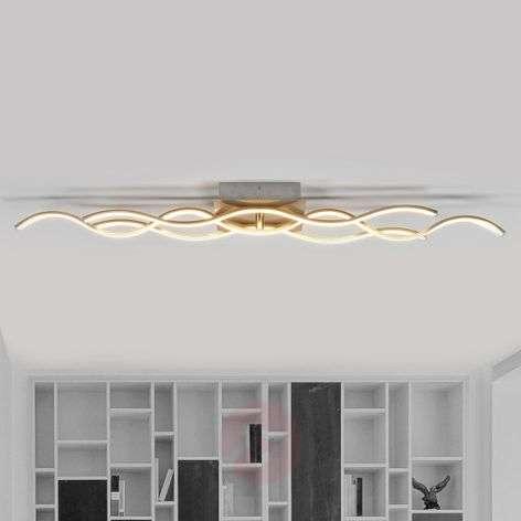 Three-bulb Safia wave-shaped LED ceiling light