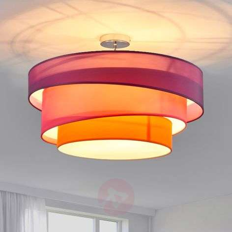 Three-coloured ceiling light Melia, violet and pink-9639035-31