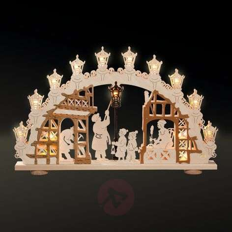Three-dimensional candle arch LAMPMAN