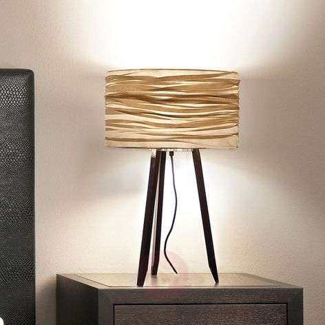 Three-legged table lamp Silence, black, gold