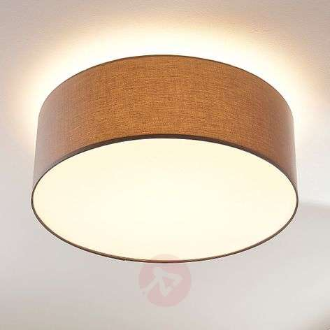 Three-way-dimmable LED ceiling lamp Dora in grey