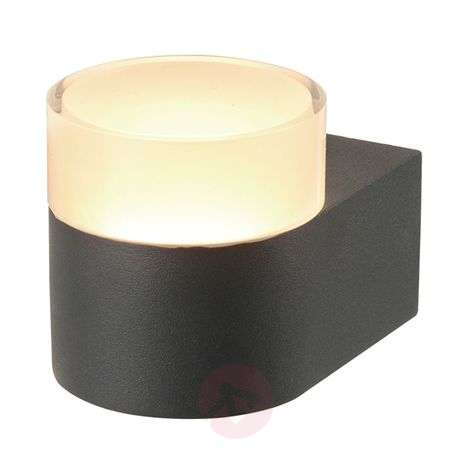 Tiana LED outdoor wall lamp, dark grey