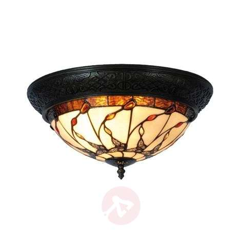 Tiffany-style ceiling light Florent