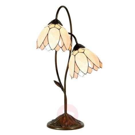 Tiffany style table lamp Lilliana, 2-light