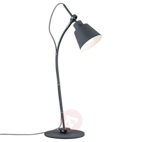 Tiltable table lamp Thala in trendy grey
