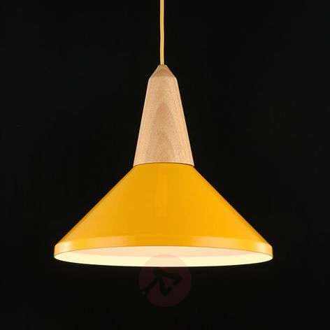 Timeless, attractive hanging light Trottola yellow