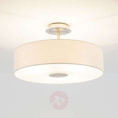 Timeless ceiling light Josia made of white fabric-9620048-31