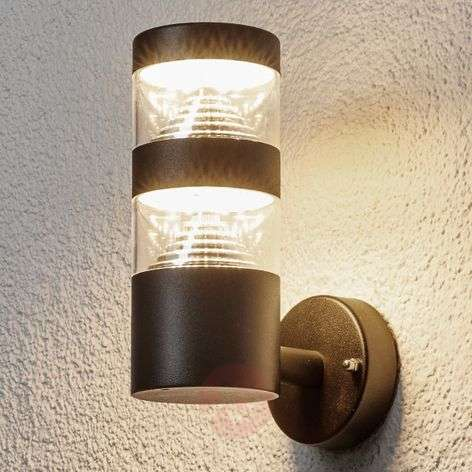 Timeless Lanea LED outdoor wall lamp in black