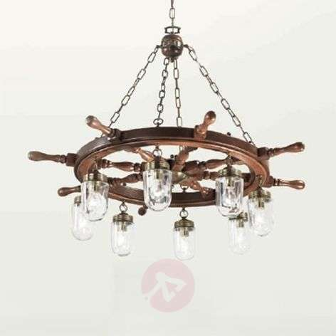 Timone hanging light with clear lampshades