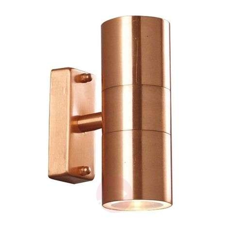 Tin Double outdoor wall lamp made of copper