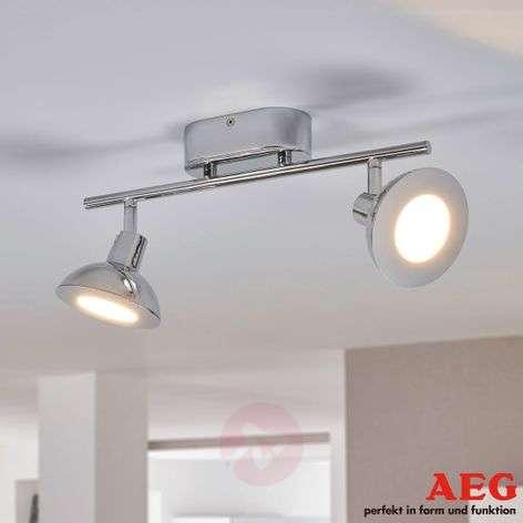 Titania - a chrome-plated LED spotlight,two-bulb
