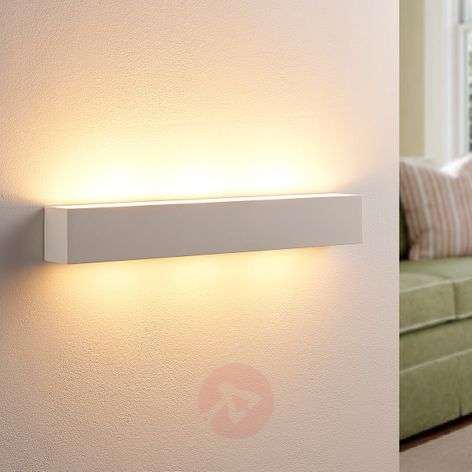 Tjada - long LED wall lamp made from plaster