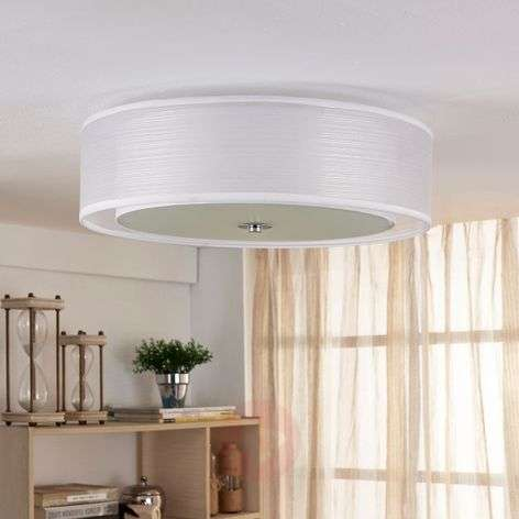 Tobia - Easydim LED ceiling light, white fabric