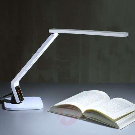 Top modern LED desk table lamp Eleni, white