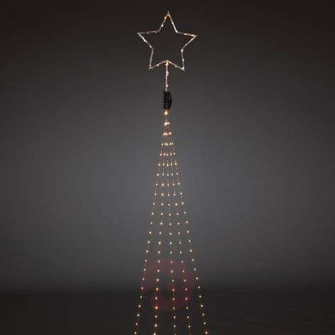 Top star in silver - LED tree lights 274-bulb