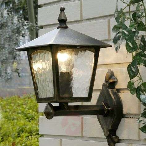 Traditional ADRIANA exterior wall light, standing