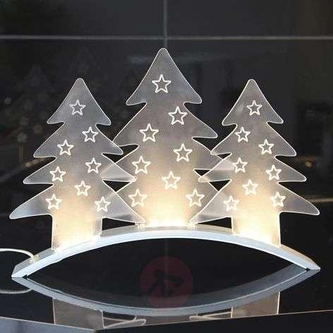 Translucent decorative light Plexi Trees, LEDs