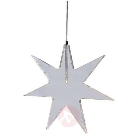 Transparent LED star -  decorative light Karla