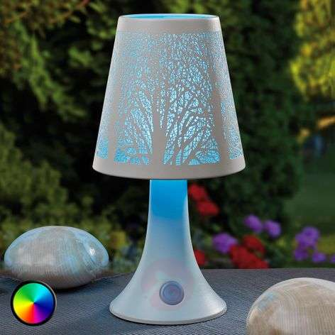 Tree structure LED table lamp w. colour change