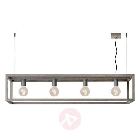 Trendy pendant light Oris with grey wood veneer