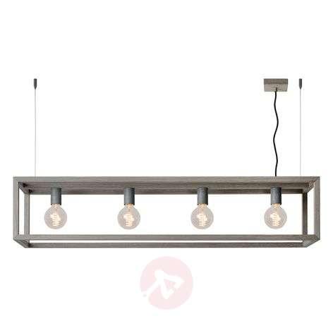 Trendy pendant light Oris with grey wood veneer-6055126-31