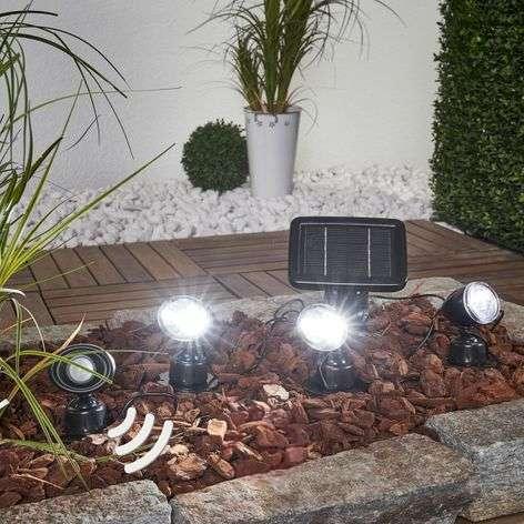 Trio PIR solar spotlight in 3-piece set