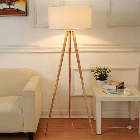 Tripod fabric floor lamp Charlia