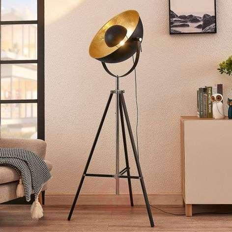 Tripod floor lamp Muriel black/gold