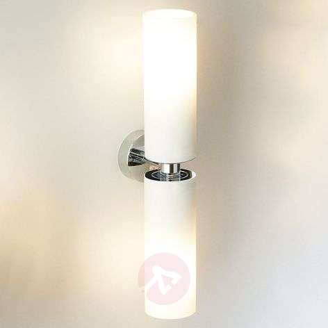 Tube twin double wall light in frosted glass lights tube twin double wall light in frosted glass aloadofball Images