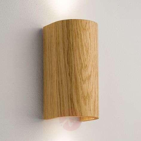 Tube wall light oak 17.5 cm