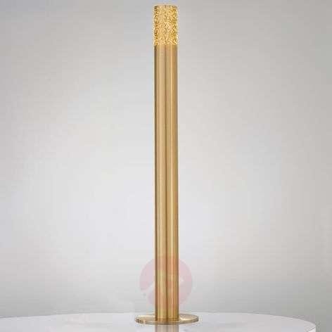 Tubular, golden floor lamp Fantasia Metallo