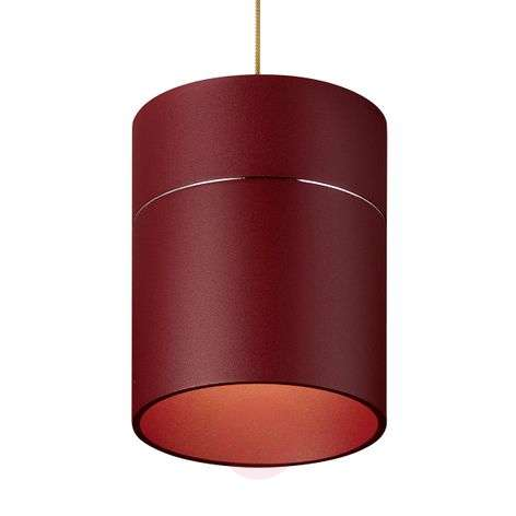 Tudor M hanging lamp 13.9cm high matt red