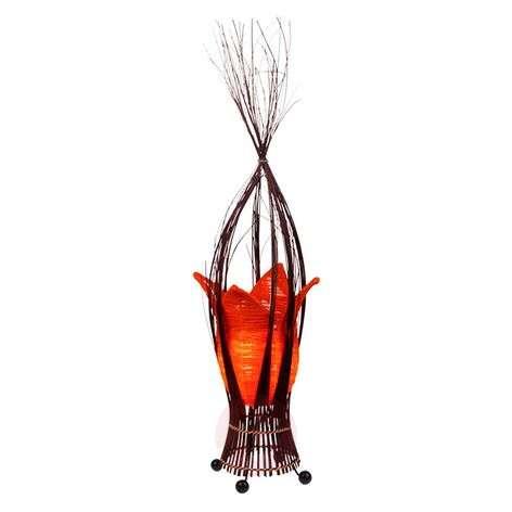 Tulip-shaped table lamp Elena in orange