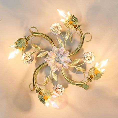 Tulipe ceiling lamp designed in a Florentine style
